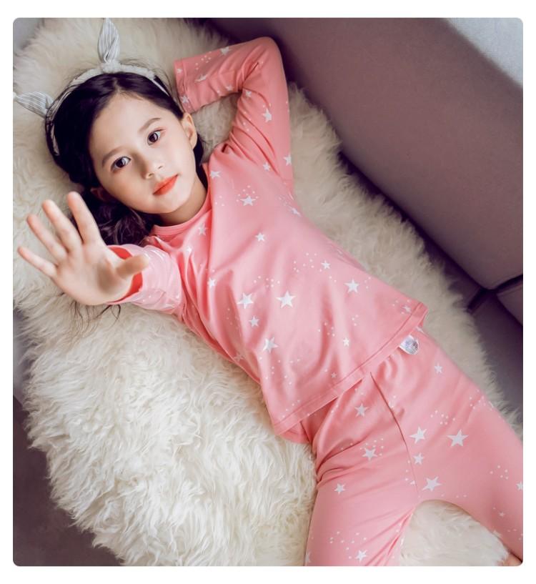 2019年新款内衣套装白色星星款织里童装批发厂家直销一件代发