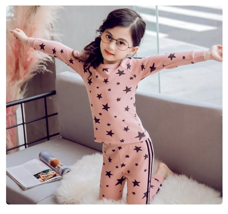 2019年新款韩版内衣套装黑色星星款织里童装批发厂家直销代理加盟一件代发