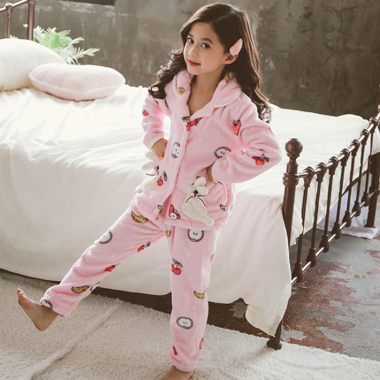 2019年新款韩版两只兔子睡衣套装织里童装批发厂家直销微商代理加盟一件代发