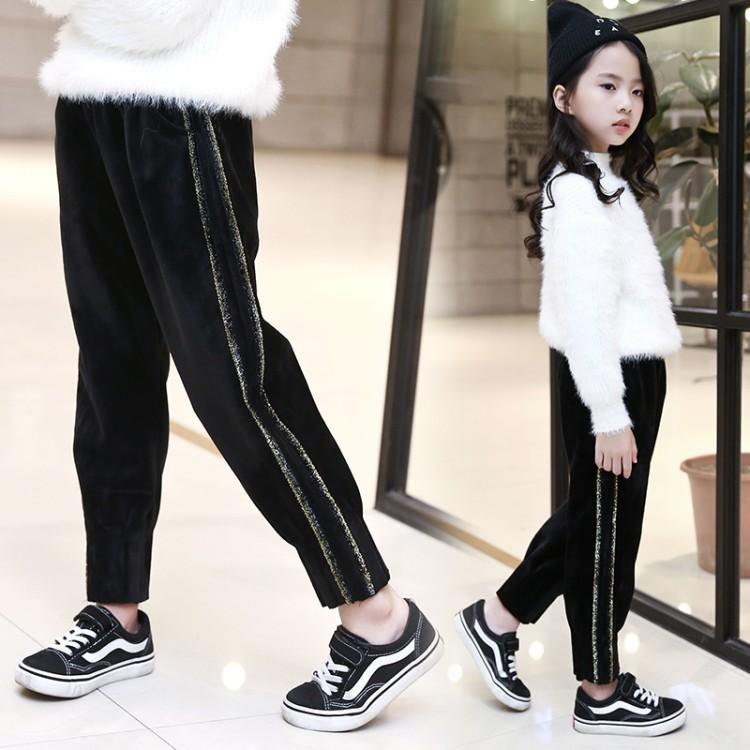 2019年新款韩版彩金条裤子织里童装批发厂家直销微商代理加盟一件代发
