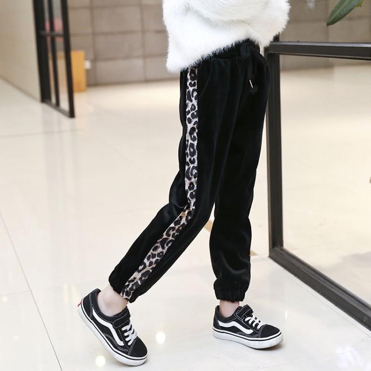 2019年新款韩版豹纹双面绒裤织里童装批发厂家直销微商代理加盟一件代发