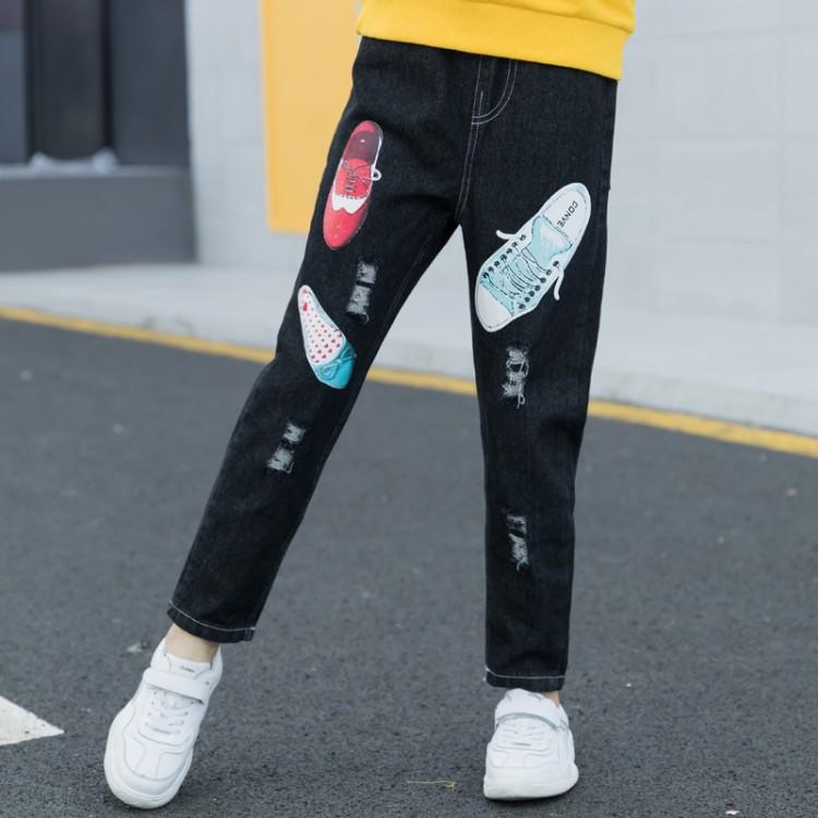2019年新款韩版鞋子牛仔长裤织里童装批发厂家直销微商代理加盟一件代发
