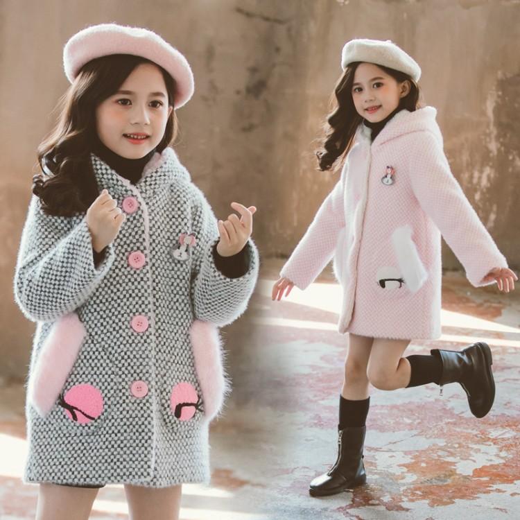 2019年新款加绒风衣织里童装批发厂家直销微商代理加盟一件代发