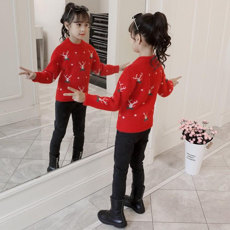 2019年新款韩版加绒加厚套头针织衫织里童装批发厂家直销微商代理加盟一件代发