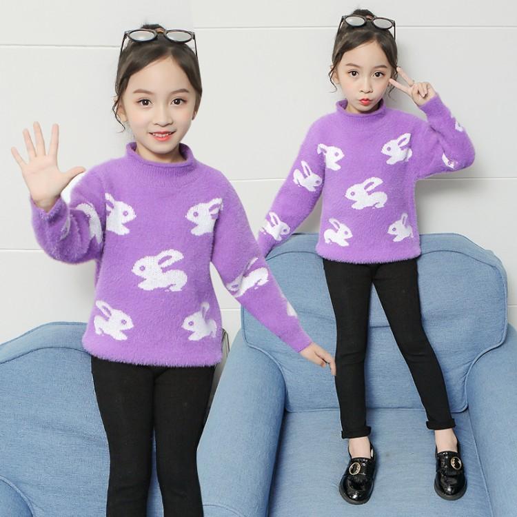 2019年新款韩版洋气套头长袖针织衫织里童装批发厂家直销微商代理加盟一件代发