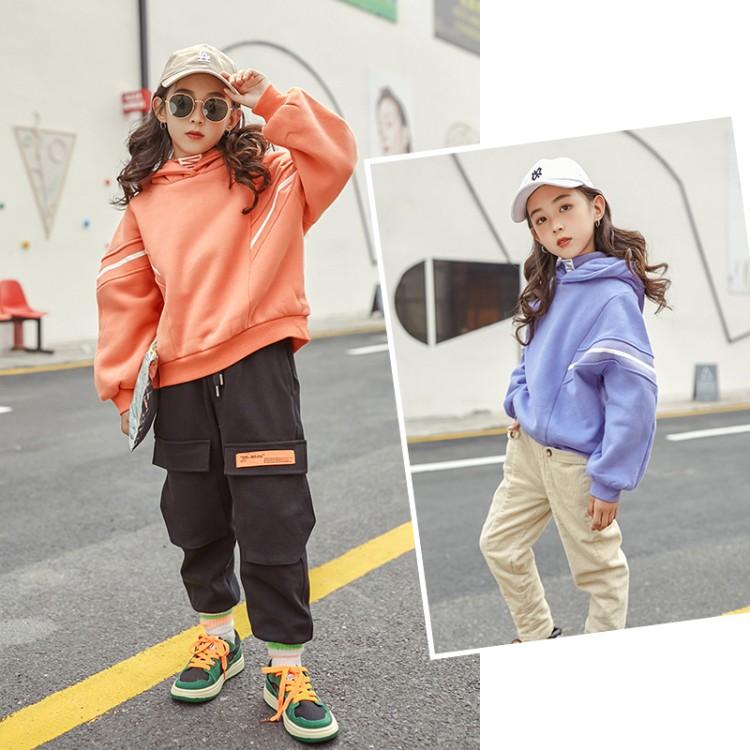 2019年新款韩版拼螺纹卫衣织里童装批发厂家直销微商代理加盟一件代发