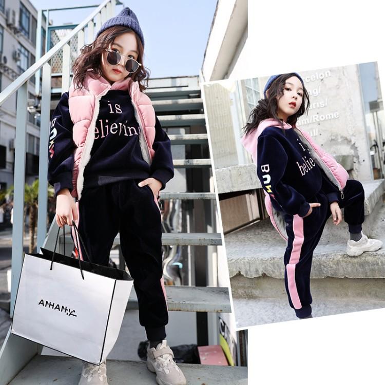 2019年新款韩版阳光绒三件套织里童装批发厂家直销微商代理加盟一件代发