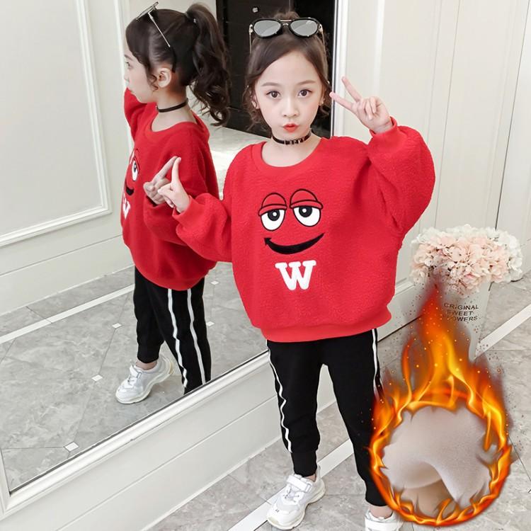 2019年新款韩版泰迪绒卫衣织里童装批发厂家直销微商代理加盟一件代发