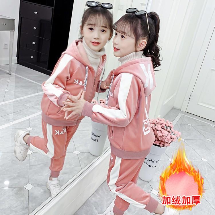 2019年新款韩版KK套装李现同款织里童装批发厂家直销微商代理加盟一件代发