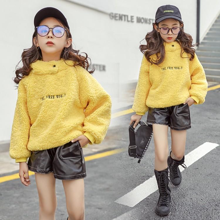 2019年新款韩版刺绣毛毛卫衣织里童装批发厂家直销微商代理加盟一件代发