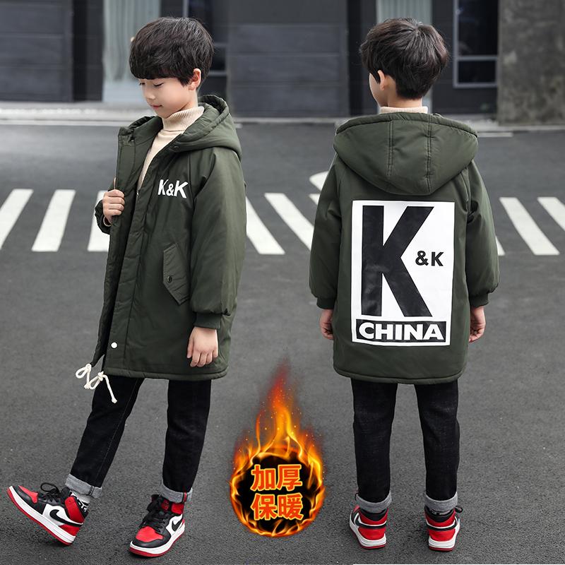 2019年新款韩版中长款KK棉服织里童装批发厂家直销微商代理加盟一件代发