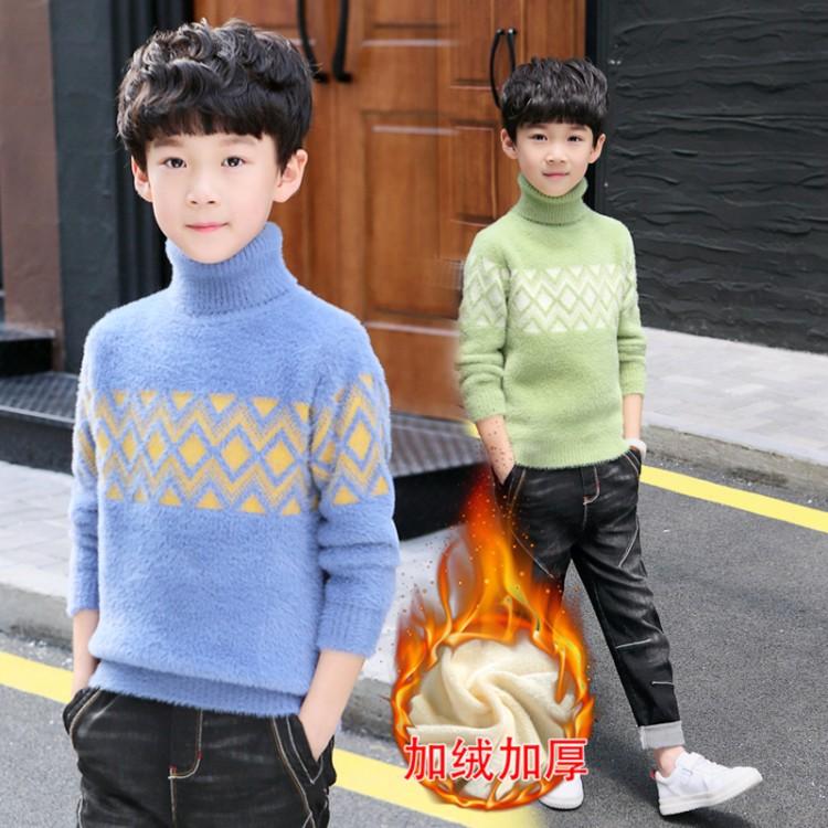 2019年新款韩版仿貂金边绒衫织里童装批发厂家直销微商代理加盟一件代发
