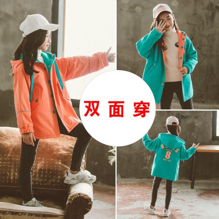 2019年新款韩版双面穿卫衣外套织里童装批发厂家直销微商代理加盟一件代发