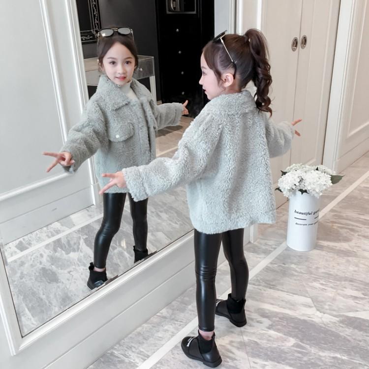 2019年新款韩版皮毛一体短款外套织里童装批发厂家直销微商代理加盟一件代发