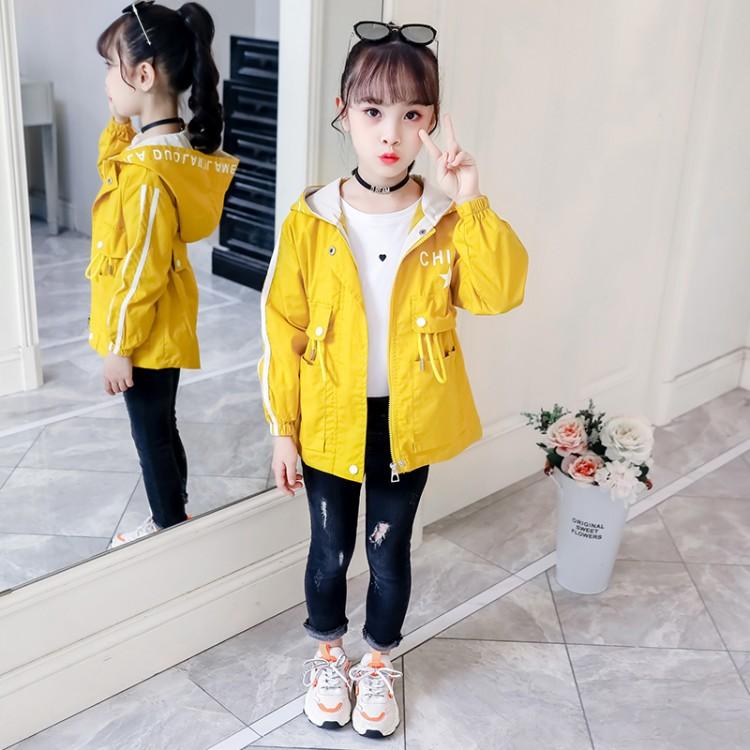 2019年新款韩版032款女童风衣外套织里童装批发厂家直销微商代理加盟一件代发