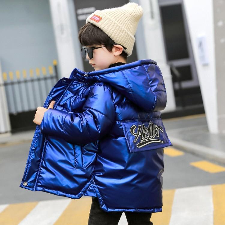 男童冬季2019新款亮皮棉衣