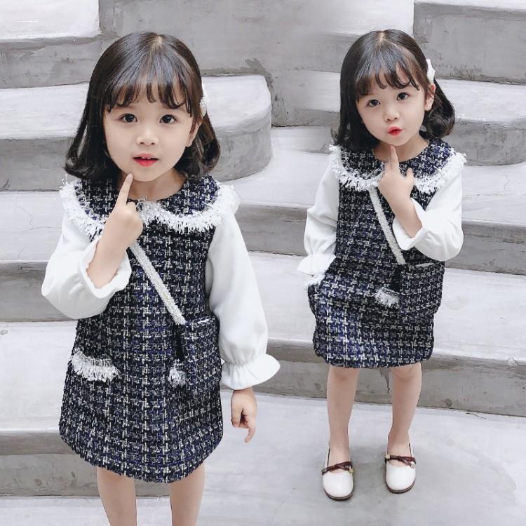 小香风挎包连衣裙