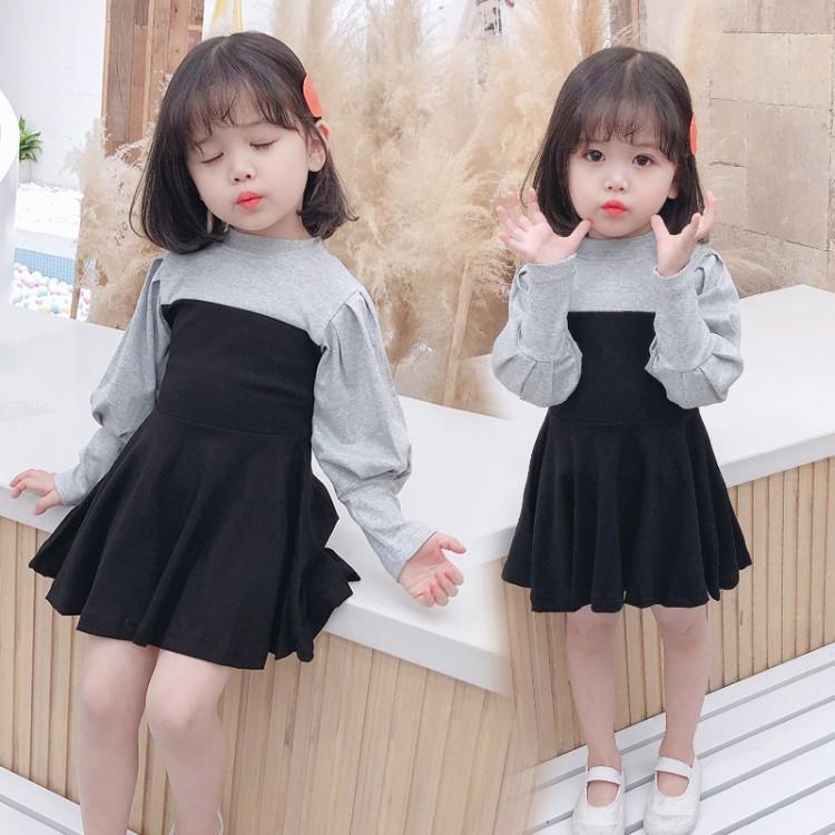 女小童拼接裙