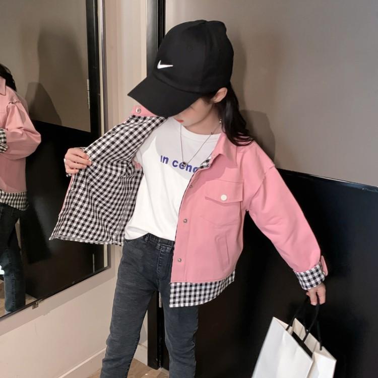 童装批发厂家直销,女童假两件外套