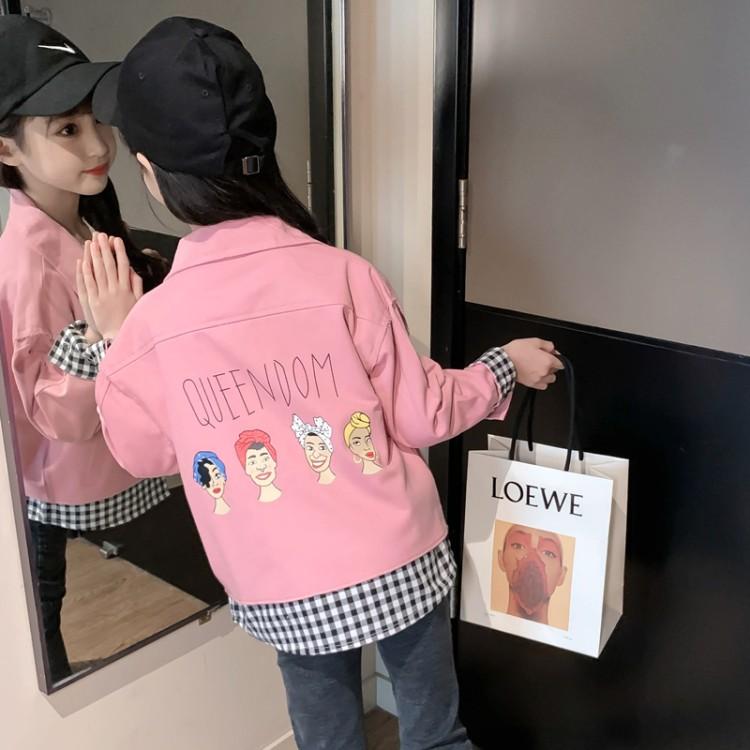 女童假两件外套