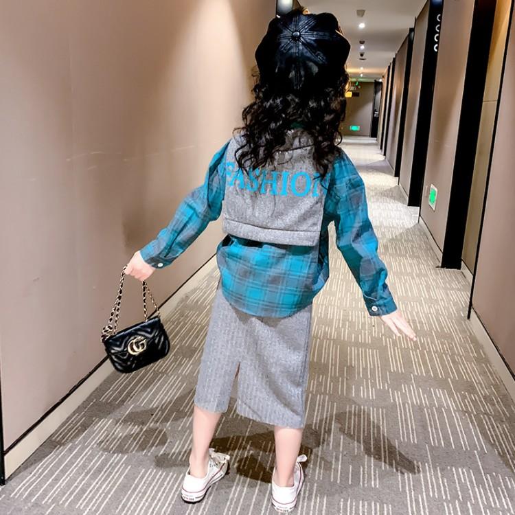 女童春秋季套装2020新款裙装休闲洋气三件套