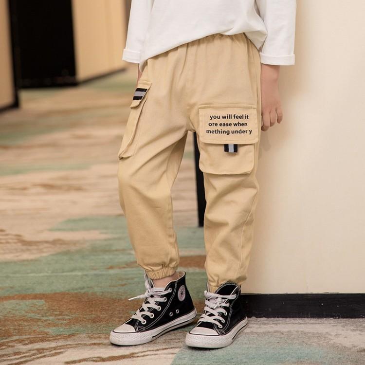 2020新款男童中大童工装风休闲长裤