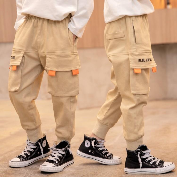 2020新款中大童男童工装风休闲长裤