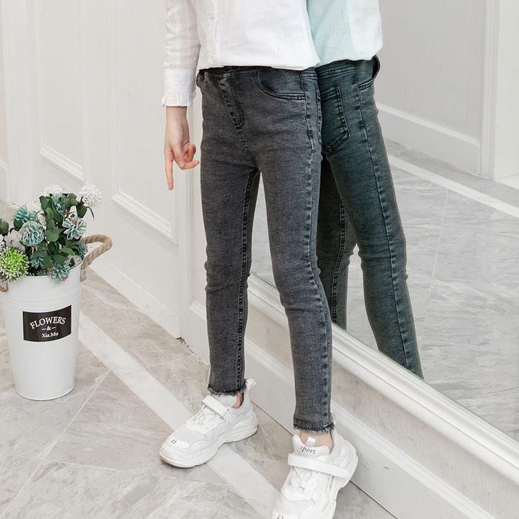 女童牛仔裤2020春装新款儿童女韩版弹力裤女孩洋气春款裤子潮春秋
