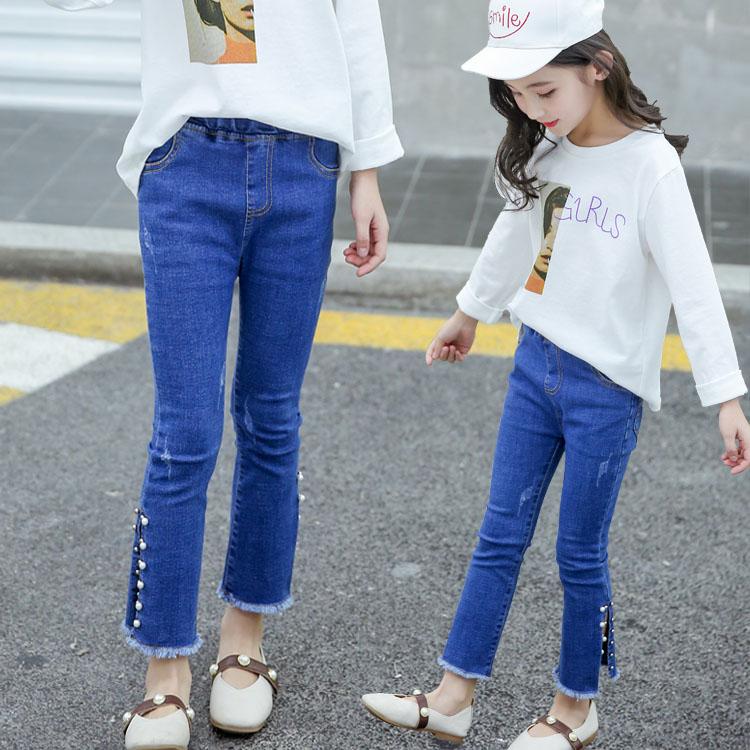 2020春季新款儿童装女童春秋款长裤子中大童时尚洋气春款潮牛仔裤
