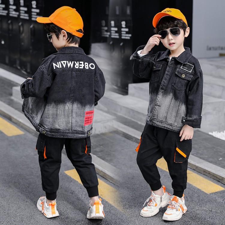 男童秋装2020新款时髦童装洋气中大童儿童春秋季小女孩牛仔衣外套