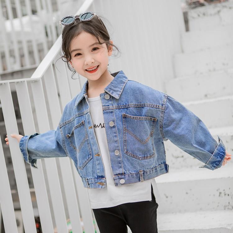 春季新款女童洋气百搭牛仔外套