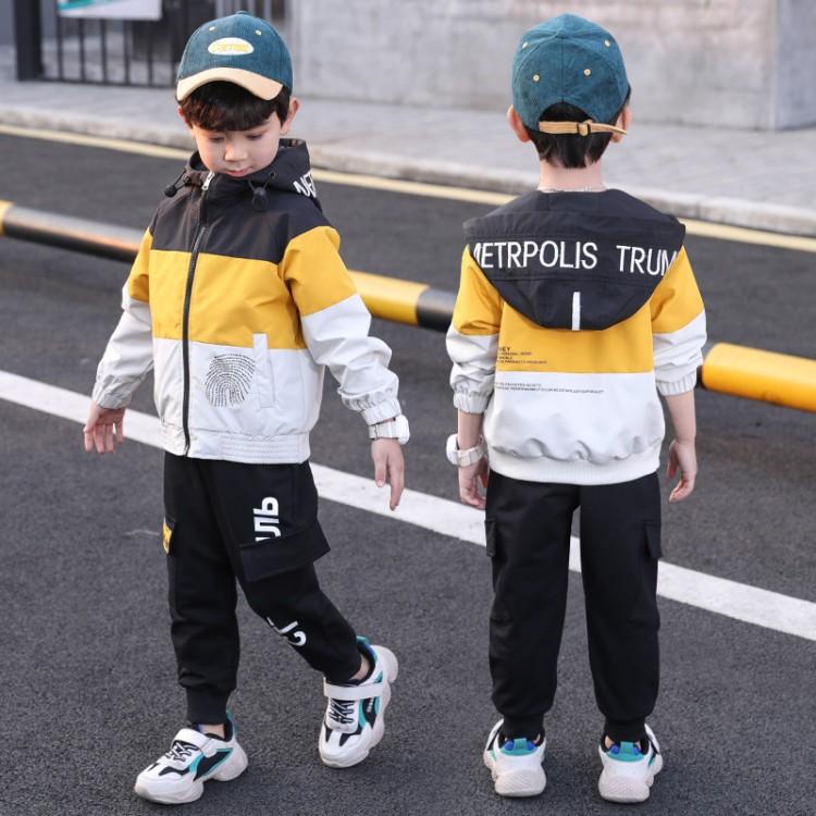 儿童连帽韩版休闲套装