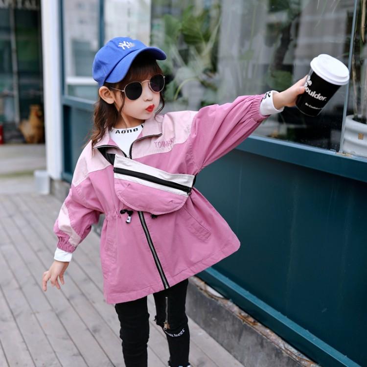女童装春秋2020年新款韩版洋气中大童儿童女孩春装衣服风衣潮外套