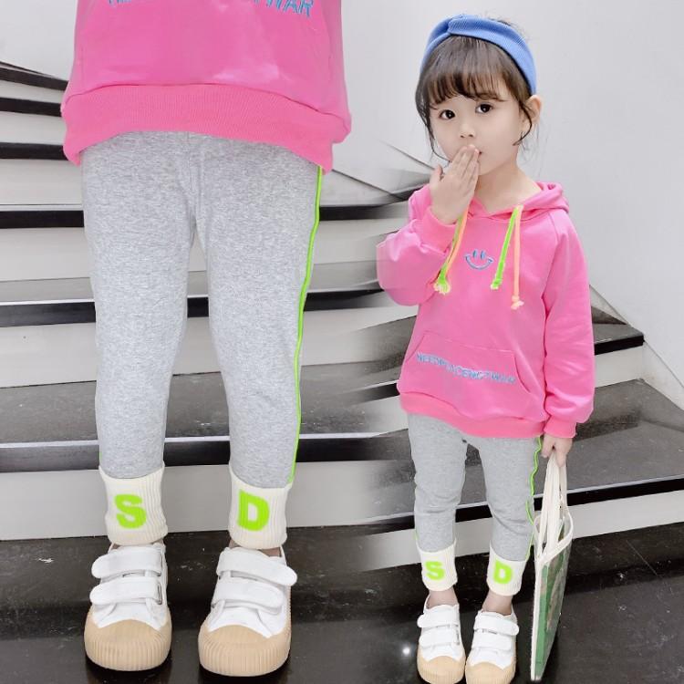 女童春装打底裤2020新款韩版洋气儿童春秋外穿宝宝运动薄款长裤子