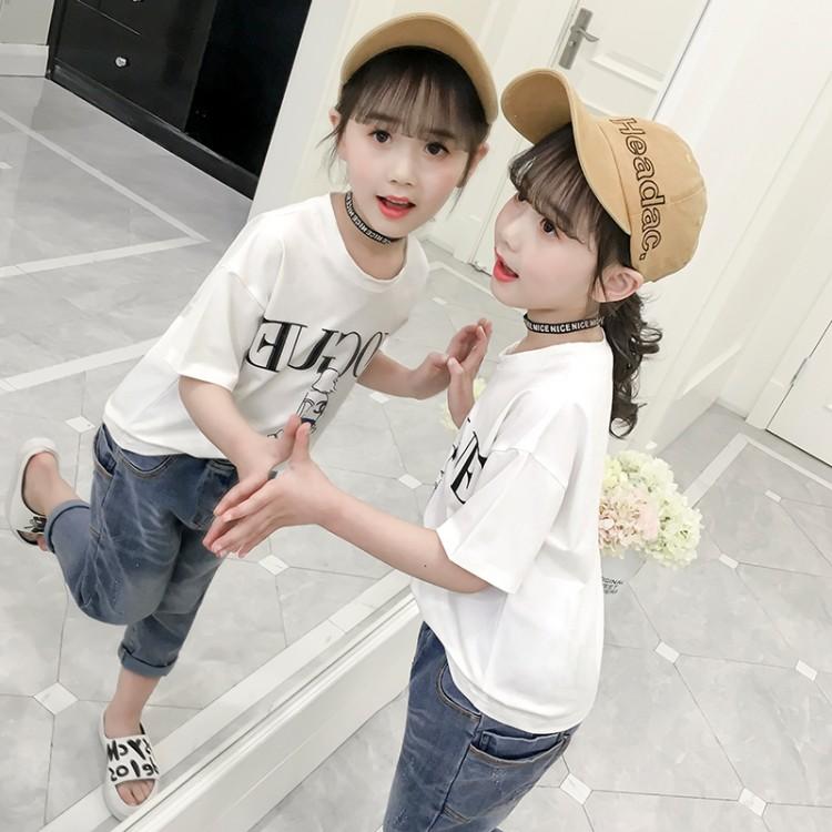 2020夏款女童T恤 韩版潮流短袖