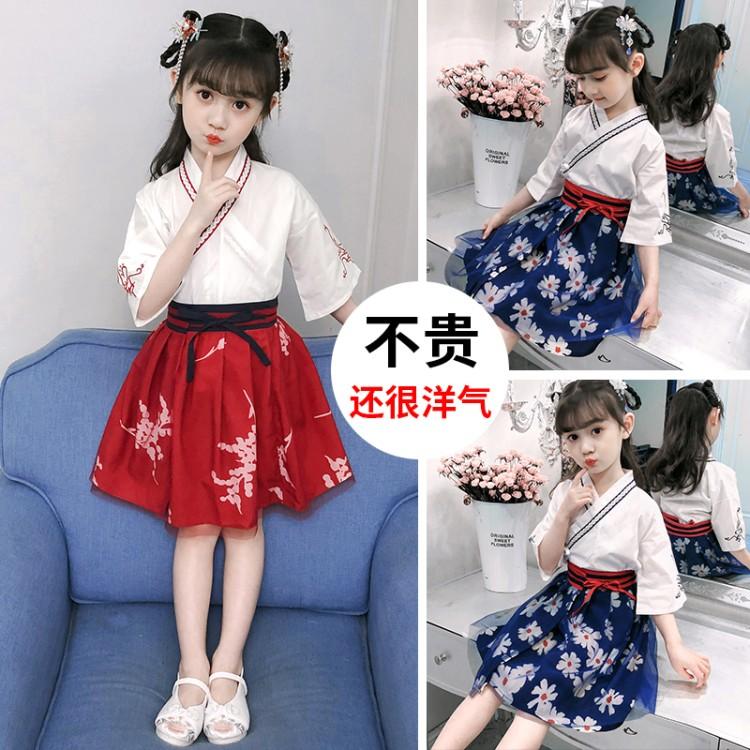 女童汉服套装新款童装微商拿货代理厂家直销一件代发