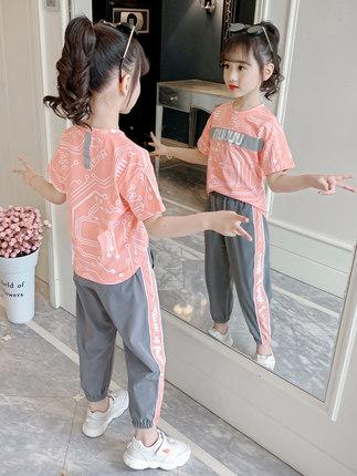 女童夏装韩版洋气网红套装一件代发微商直播带货