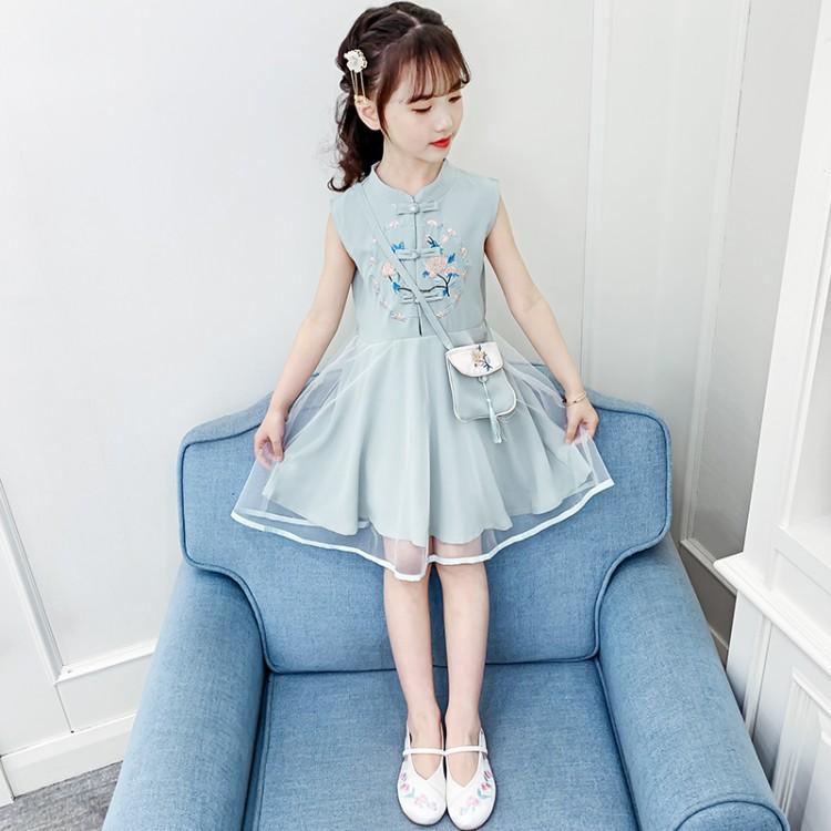 新款汉服连衣裙 品牌童装加盟代理 厂家直销 微商直播拿货 一件批发代发