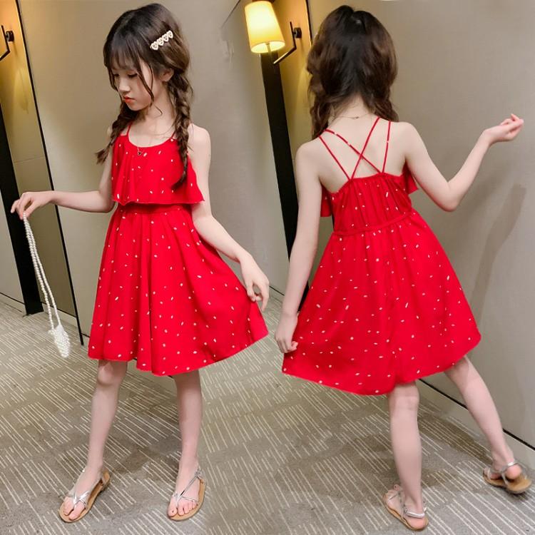 2020新款吊带裙 品牌童装加盟代理 厂家直销 微商直播拿货 一件批发代发