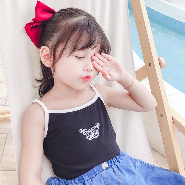 蝴蝶吊带 品牌童装加盟代理 厂家直销 微商直播拿货 一件批发代发