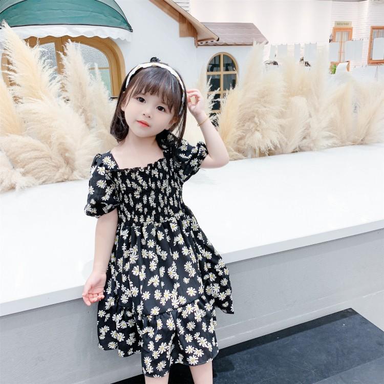 中小童女童菊花短袖连衣裙 厂家童装批发 一手货源 物美价廉 到织里儿童网