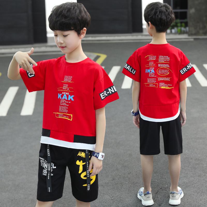 男童时尚假两件套装织里童装批发货源一件代发