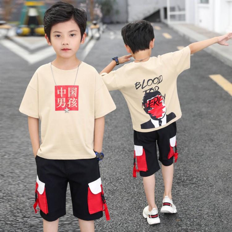 中国男孩休闲套装织里童装批发货源 直播带货一件代发