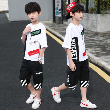 男童韩版时尚套装 童装批发货源 直播带货一件代发