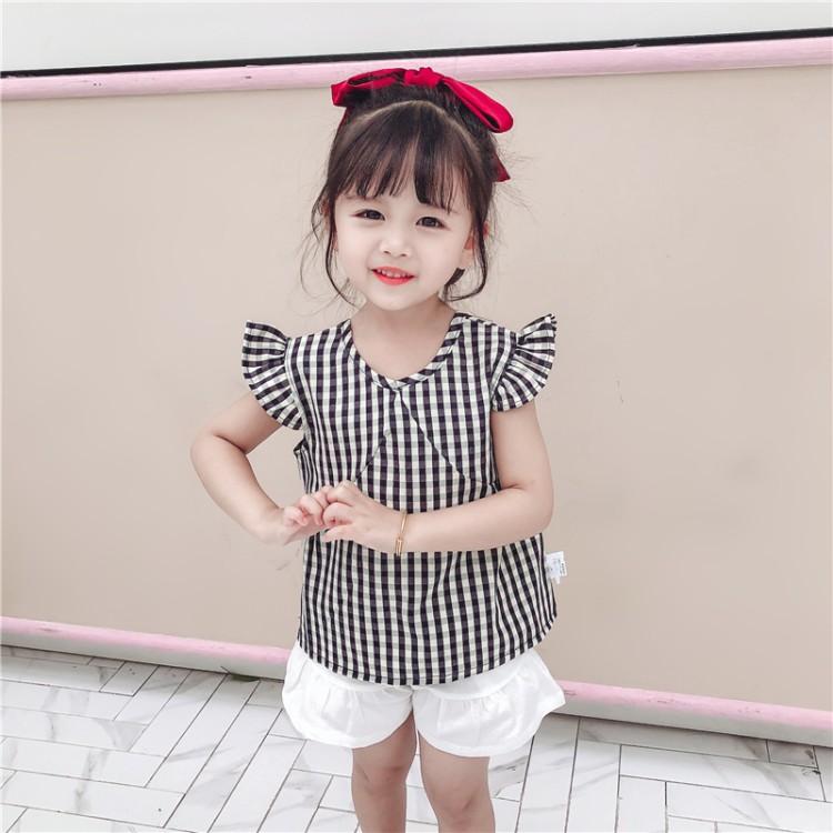 女童黑白格子套装 童装拿货 直播带货 就到织里儿童网 一件也批发