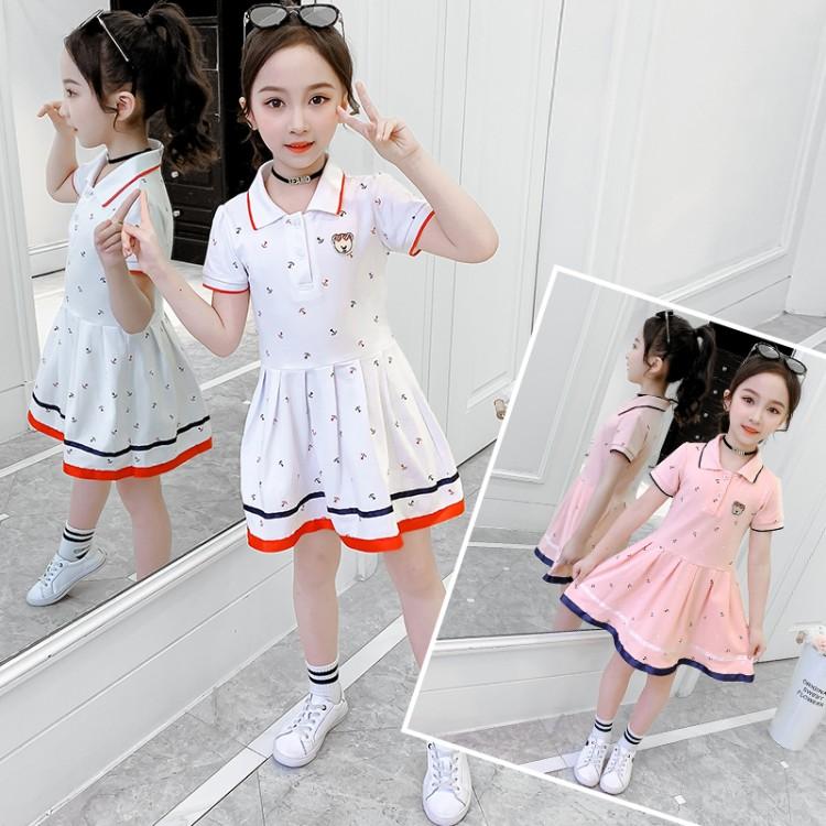 女童学院风连衣裙 厂家童装批发 一手货源 物美价廉 到织里儿童网