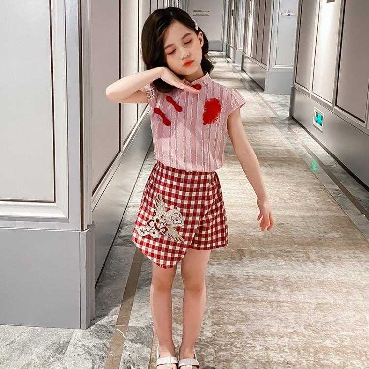 女童如意套装裙裤 童装怎么拿货 到织里儿童网 一手货源一件代发