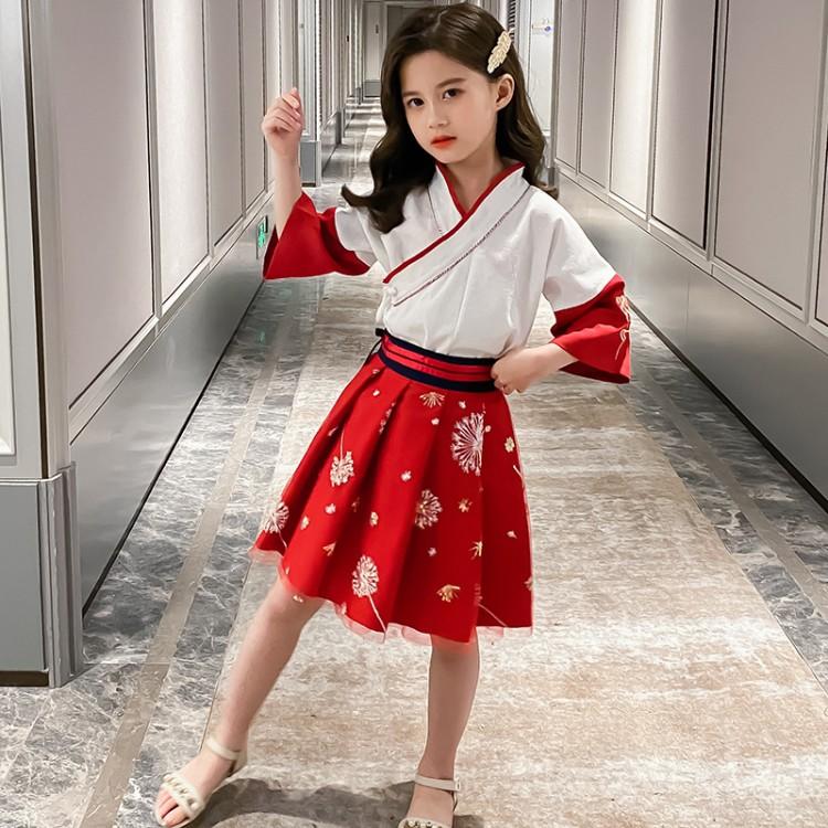 女童汉服套装裙 童装一件代发 直播带货 微商拿货 织里儿童网