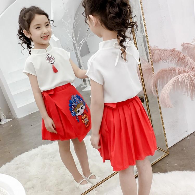 女童琪琪福娃图套装裙 厂家童装批发 一手货源 物美价廉 到织里儿童网