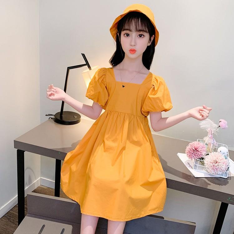 女童泡泡袖连衣裙 童装一件代发 直播带货 微商拿货 织里儿童网